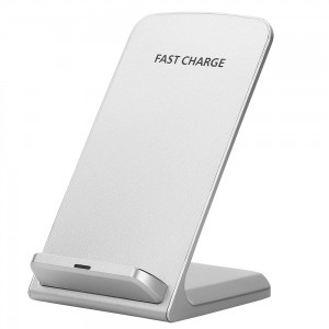 Fast Wireless Charging Stand for iphone X / Samsung Galaxy S8 S7 S6 Edge Note 8 - White