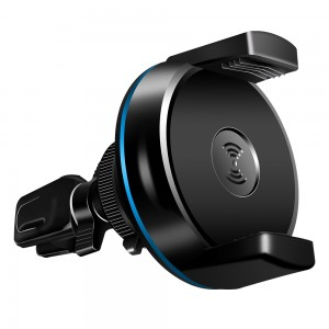 Qi Wireless Car Charger Car Air Vent Mount for iPhone X Samsung - Black