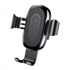 Wireless Charging Car Mount for iPhone X 8 Samsung S8 - Black