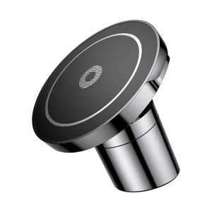 Magnetic Car Mount Qi Wireless Car Charger For iPhone X 8 Samsung -Black
