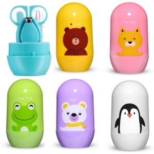 Cartoon Baby Healthcare Kits Baby Nail Care Set