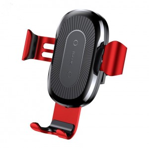 Wireless Charging Car Mount for iPhone X 8 Samsung S8 - Red