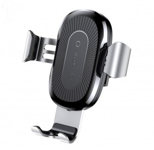 Wireless Charging Car Mount for iPhone X 8 Samsung S8 - Silvery