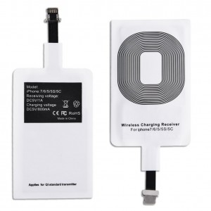 QI Wireless Charger Receiver for iPhone 7/ 7 Plus / 6 /6 Plus / 6s / 6s Plus - White